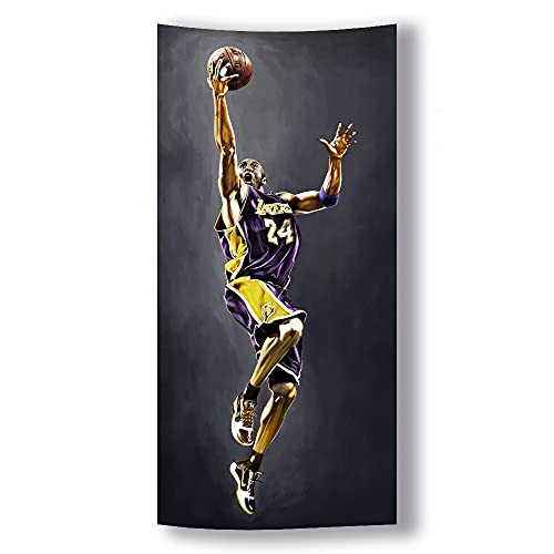 R.I.P Basketball Superstar Poster Basketball Gifts Black Wall Décor Tapestry Hanging Wall Art for Bedroom Living Room Dorm Room(H59''×W27.5'')