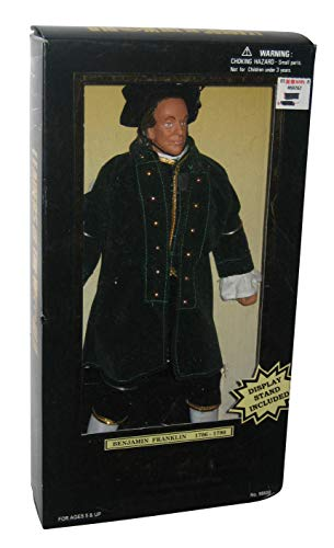 1997 - Formative International Co. Ltd. - Leaders of the World - Benjamin Franklin (1706 to 1790) - 12 Inches Tall - Fully Poseable / Display Stand - Very Rare - New - Out of Production - Limited Edit
