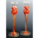 Candlesticks 9 made of your Broken Glass, by Mark Rosenbaum | The Golden Dreidle | Online Store for Jewish Gifts and Judaica