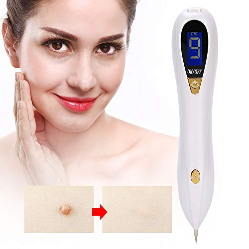 Stylo laser Dot Mole Removal Pen Picosecond Pen, Skin Tag Removal Pen 9 Gears Freckle Pen, Light Therapy Tattoo Scar Mole Freckle Removal Dark Spot Remover Machine