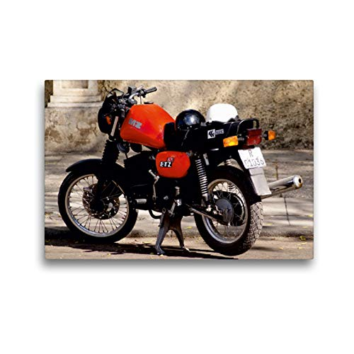 Calvendo Premium Lienzo 45 cm x 30 cm horizontal, moto de la marca MZ de la RDA en Cuba, imagen sobre bastidor, imagen lista sobre lienzo auténtico, impresión en lienzo, Mobilitaet Mobilitaet