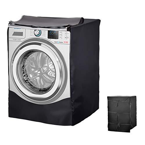 Wuudi Housse imperméable pour machine à laver, housse imperméable pour sèche-linge, convient à la plupart des machines à laver et sèche-linge avant (gris, 60 x 55 x 85 cm)