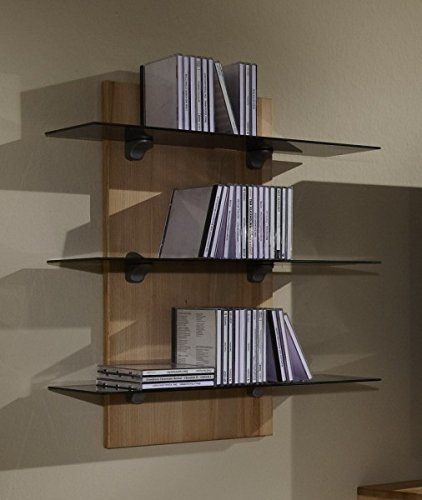 Möbel Roslev A / S Wandpaneel Paneel Wandregal Wandboard CD-Regal Kernbuche massiv gewachst
