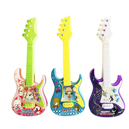 Aelove Children Cute 3-in-1 Musical Toy Mini Toy Guitar Guitars & Strings