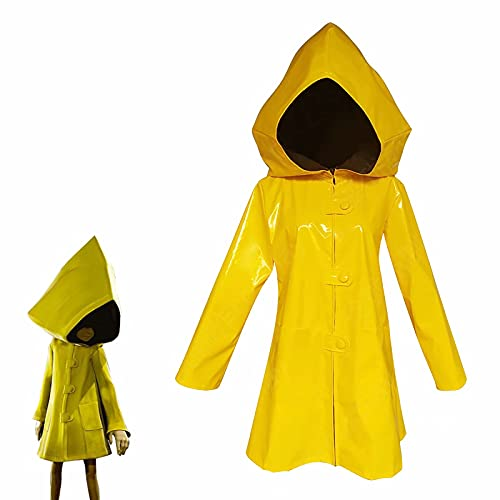 Nightmare MAX Disfraz de Cosplay Little Six Yellow Chaqueta con Capucha Capa de Uniforme para Fiesta de Halloween