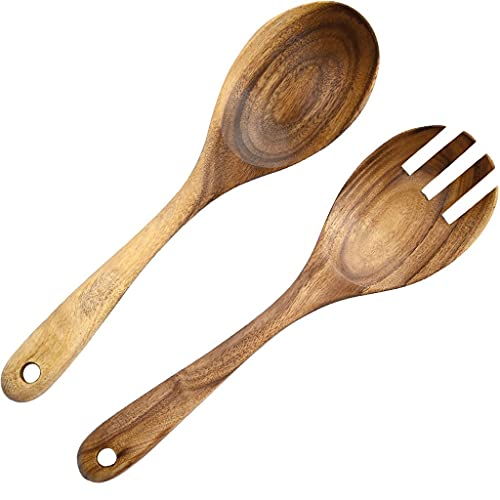 Hbao Curved Spoon Kitchenware Wooden Spoon Soup Spoon Wood Large Soup Spoon Wine Spoon Set