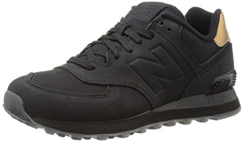 New Balance Damen 574 Sneakers, Rot (Black/Gold), 36 EU