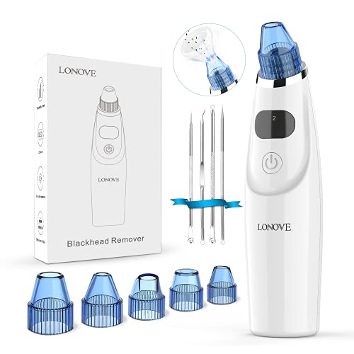 Blackhead Pore Vacuum Cleaner Remover - 2021 Newest Blackhead Remover Electric Pore Cleaner, USB Rechargeable Acne Comedone Whitehead Extractor with 5 Probes and Blackhead Remover Kit for Facial Skin