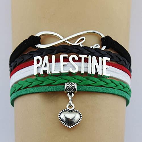 LPOK Bandera De Pulsera De Palestina, Pulsera De Metal De Recuerdo De La Bandera De Palestina Pulsera De Acero Inoxidable para Hombre Y Mujer Regalo 1