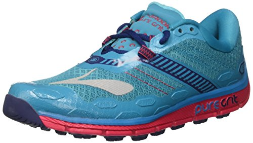 Brooks PureGrit 5, Zapatillas de Running para Asfalto Mujer, Turquesa (Peacock Blue/Virtual Pink/Patriot Blue), 38 EU
