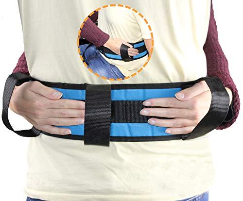 OrtoPrime Cinturón de Transferencia Adultos - Eslinga Lumbar de Transferencia - Cinturón de Seguridad para Ancianos con 4 Asas - Ayuda para Levantarse de Cama Pacientes y Cuidadores ✅
