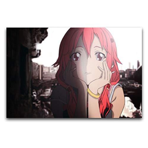 ZSBoBo Anime Guilt Crown Face Lift Poster Dekorative Malerei Leinwand Wandkunst Schlafzimmer Korridor Club Badezimmer Decor Poster 30 x 45 cm