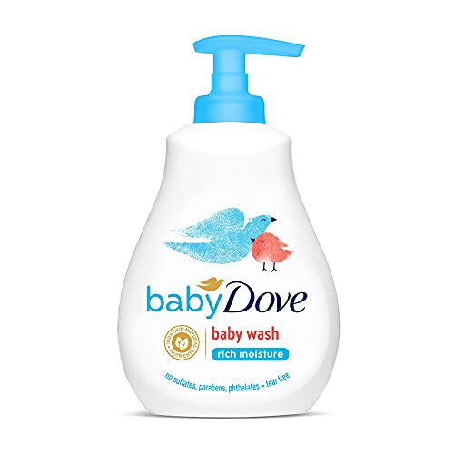 Baby Dove Rich Moisture Hair To Toe Baby Wash, Tear Free, Hypoallergenic, No Parabens, No Sulphates, No Phthalates, 200 ml