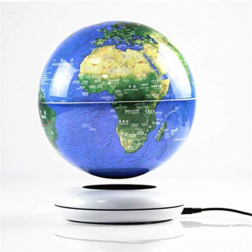 """FACAIA Globe terrestre Flottant, Globe terrestre en lévitation magnétique de Bureau de 8"""", Boule de Globe terrestre rotative avec Carte du Monde pour Cadeau éducatif pour Enfants,"""