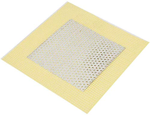 KLYJ Panel de pared de fibra de vidrio de aluminio y plástico compuesto de tableros de yeso, adhesivo para reparación de parches de yeso, parche de pared para daños en agujeros de pared