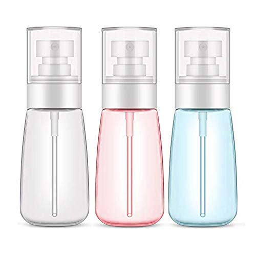 HYISHION Bote Spray Botella de Aerosol Vacío Plástico Transparente Niebla Fina Atomizador de Viaje Recargable para Aromaterapia,Primeros Auxilios,Tamaño de Viaje,Líquidos Químicos
