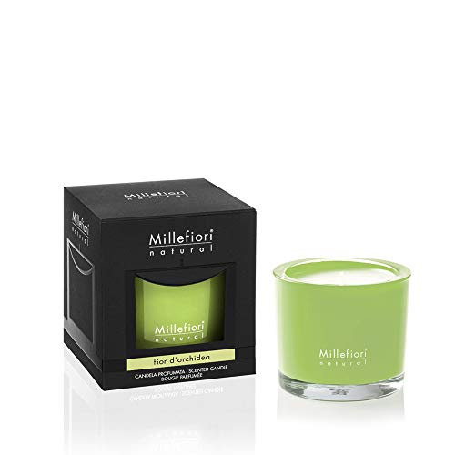 Millefiori Milano Duftkerze in Vase/Glas, Duft Orchideen, 180 g