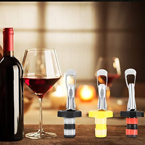 Tapón de vino Material de silicona de protección del medio ambiente Tapón de botella de vino para amantes de Champagne