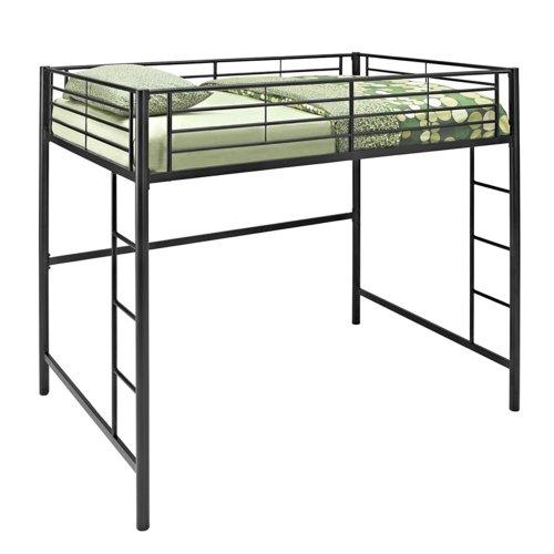New Full Over Loft Black Metal Framed Bed