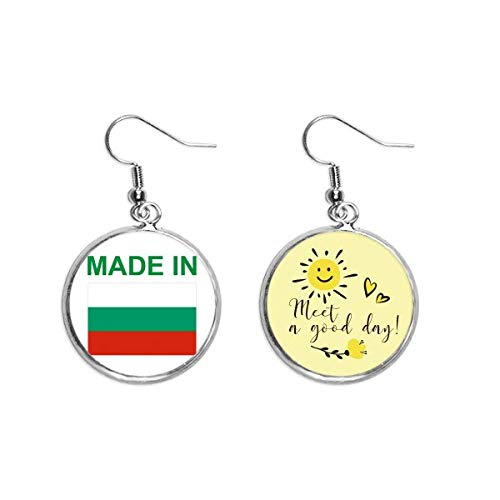 Hergestellt in Bulgarien Country Love Ohrhänger, Sonnenblumen-Ohrringe, Modeschmuck.