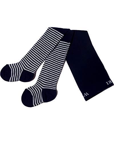 Weri Specials Collants pour bébé et enfant « Bague fine » pour fille - Bleu - 86 cm-92 cm