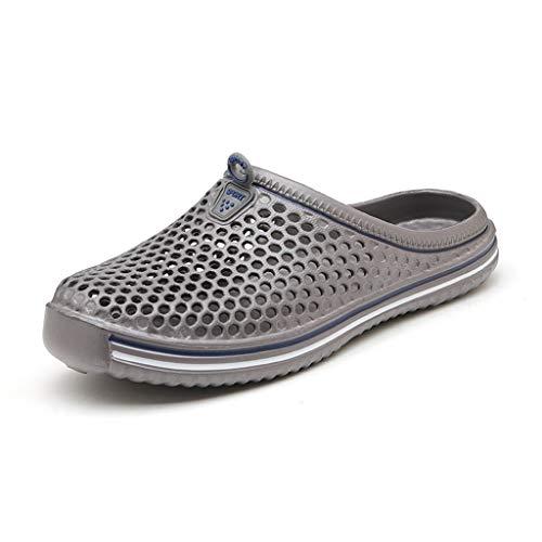 CHLDDHC Jardín Zapatos de Secado Rápido para Hombre Y Mujer, Zapatillas de Playa de Verano, Sandalias Planas para Exteriores, Zapatos de Jardinería para Hombre Y Mujer