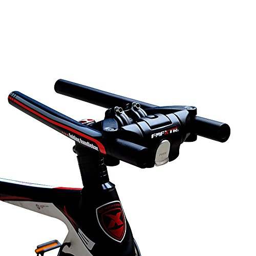 UPANBIKE Bike Folding Handlebar Aluminum Alloy Scooter Handlebar Quick Release Foldable Bar 31.8mm/25.4mm (Black+Red)