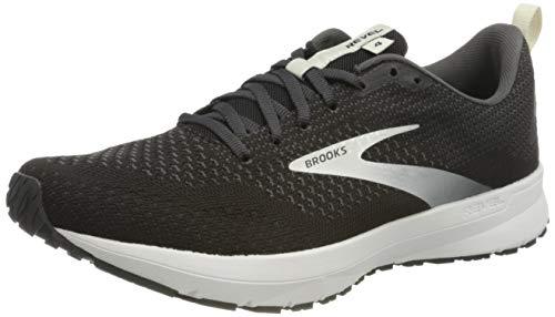 Brooks Revel 4, Zapatillas para Correr Hombre, Black Oyster Silver, 44 EU
