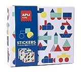 APLI Kids- Vehículos Juego de Gomets Geométricos, Multicolor (18359)