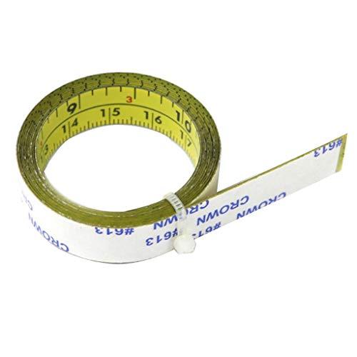 LOVIVER Cinta Métrica de Acero con Respaldo Adhesivo Lectura de Izquierda a Derecha 1M / 2M / - 0-200 cm