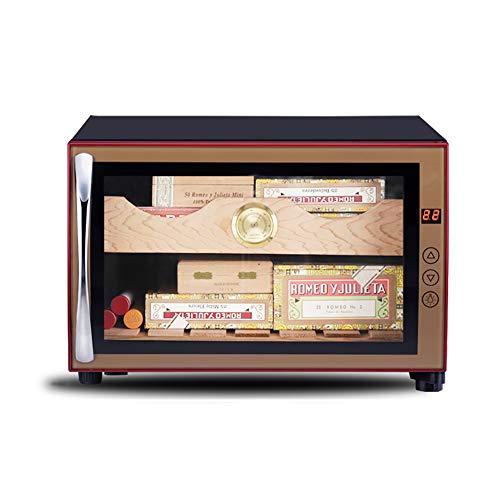 VIY Humidificador Puros, 70 W, Panel táctil, 38 dB, Madera de Cedro, 23 litros, 150 Puros, LED, Negro