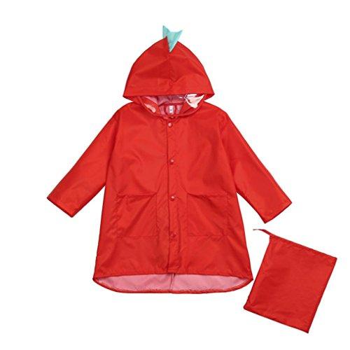 Maheegu - Abrigo impermeable - para niña Rojo Red large