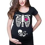 Mitlfuny Shirt Camiseta Premamá Estampado bebé asomándose para Mujer Mujeres...