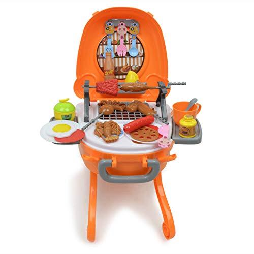 Homyl Elektronisches Grill Spielzeug Set inkl. Barbecue Grill + Fleisch Fisch Gabel und viele andere Grillzubehör