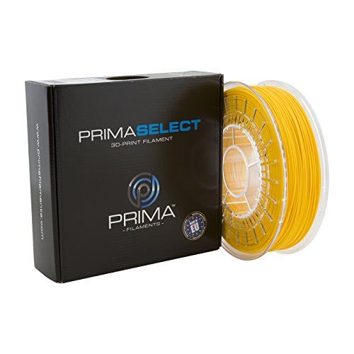 PrimaCreator PrimaSelect - Filamento para impresora 3D (PLA, 1,75 mm, 750 g), color amarillo