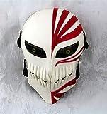 Gmasking Bleach Ichigo Kurosaki Airsoft Wire Mesh Paintball Mask Replica (White-Red)