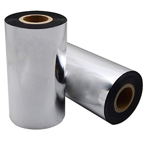 Impresora a base de cera de papel recubierto con código de barras de cinta de 11 cm de ancho, 300 m de largo, impresión personalizada y el tamaño son bienvenidos.