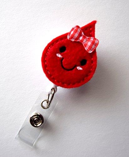 Betty Blood Drop - Retractable ID Badge Reel - Teacher Badge Holder - Cute Badge Reel - Nurse Badge Holder - Nursing Badge Clip - Felt Badge Photo #3