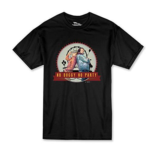 Terence Hill Bud Spencer T-Shirt - No Buggy No Party - Zwei wie Pech und Schwefel (schwarz) - Renato Casaro Edition (L)