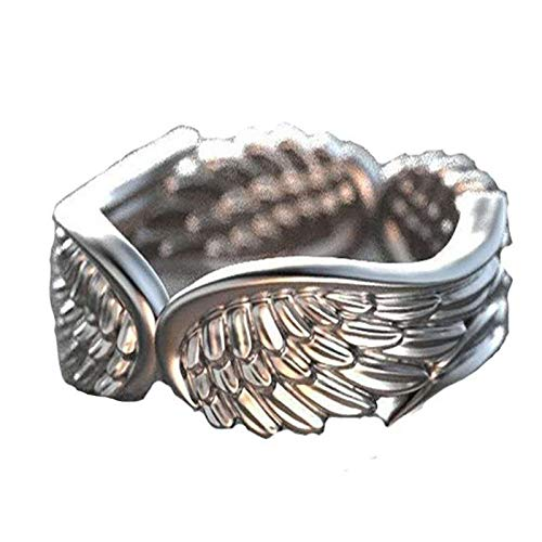 Fasclot Angel Feather Ring Personality Temperament Ring Jewelry