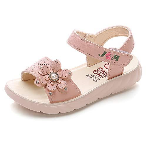 Sandalias con Punta Abierta para Niñas Pequeñas Niño Infantiles Zapatos de Vestir Calzado Verano para 1-6 Años (Rosado, EU 21)