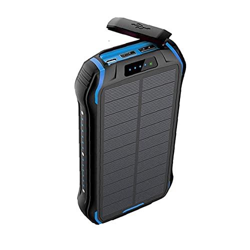 NiceJoy Paquete de batería portátil Externa del Cargador inalámbrico Banco de la energía Solar de Carga rápida Impermeable Cargador del teléfono móvil 26800mAh Azul