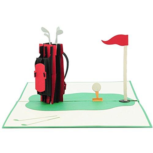 Favour Pop Up Grusskarte - Golfplatz. Aufwändige Handarbeit und ausgefeilte Lasertechnik. Format 13x18cm TF080