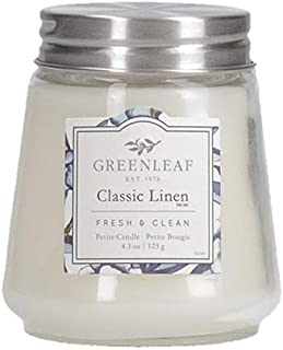 GREENLEAF Scented Petite Candle - Burns 30-40 Hours - Classic Linen