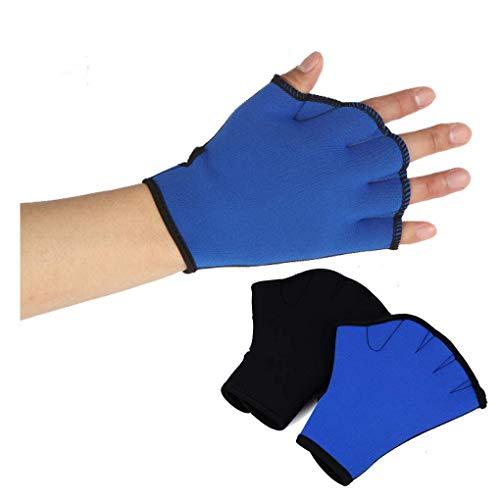 RUIXIB 1 Paar Schwimmhandshuhe Swim Gloves Aquatic Handschuhe Schwimmausrüstung Unisex Schwimmpaddles Wasserdicht Neoprenhandschuhe Weich Atmungsaktiv Wassertraining Handshuhe