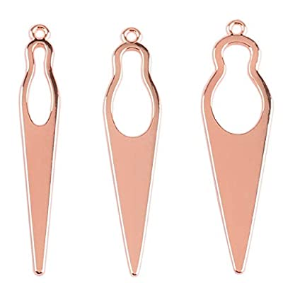 Messen Interlocking Tool Needle for Locs Dreadlocks Tool Easyloc Hair Tool for Dreadlocks and Sisterlocks Tightening Accessory for Starting and Maintaining Your Locs (Rose Gold, Large Medium Small)