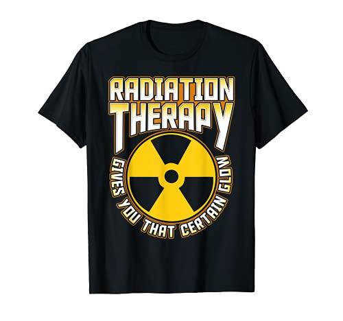 Radioterapia ti dà quel bagliore Cancro Fighter divertente Maglietta