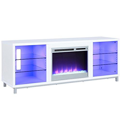 Lumina Fireplace TV Stand for TVs upto 70', White