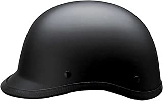 HCI Matte Black Polo Motorcycle D.O.T Half Helmet - ABS Shell 105-211 (Large)