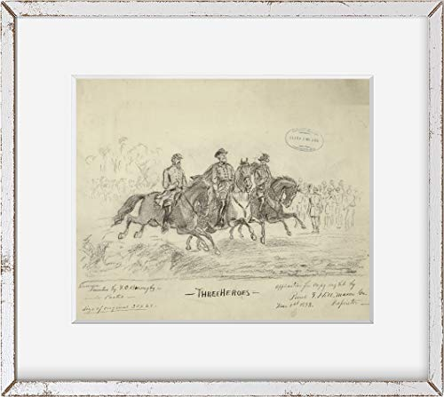 INFINITE PHOTOGRAPHS Photo: Three Heroes, Jeb Stuart, Stonewall Jackson, Robert E. Lee, Confederate, Civil War